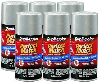 DupliColor Millennium Silver Pearl Toyota (1C0) 8 oz. Spray Paint (Pack of 6)
