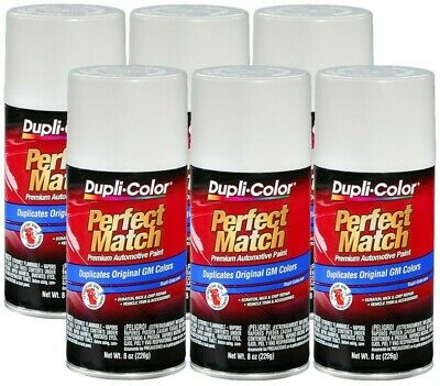 DupliColor Olympic White General Motors (WA8624) 8 oz. Spray Paint (Pack of 6)
