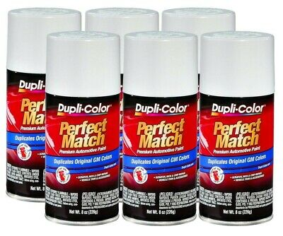 DupliColor Pure White General Motors  (WA5111) 8 oz. Spray Paint (Pack of 6)