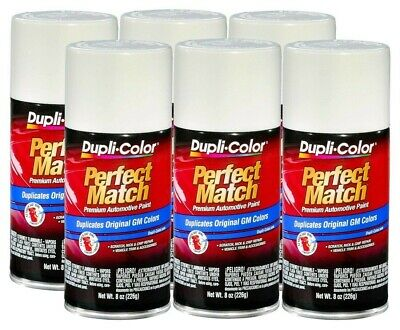 DupliColor Dover/Arctic White GM (WA3967) 8 oz. Spray Paint (Pack of 6)