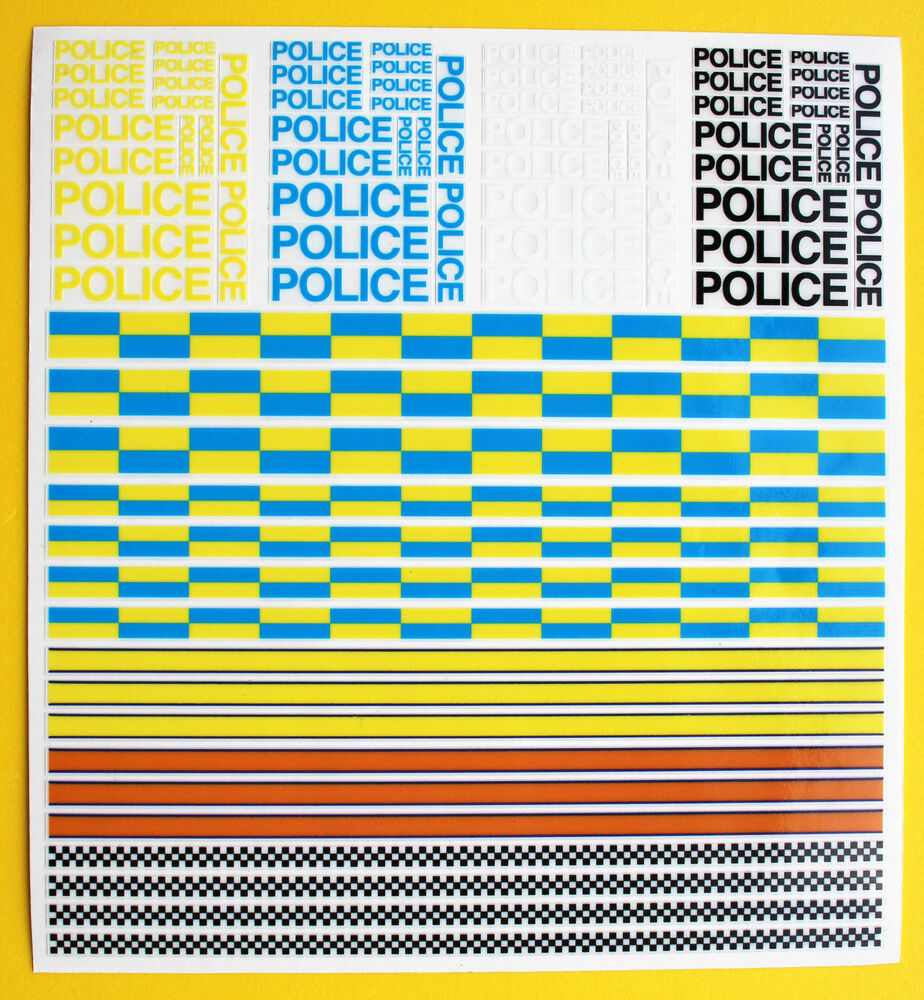 Details about slot car scalextric police stickers decals ideal for die cast code 3 models