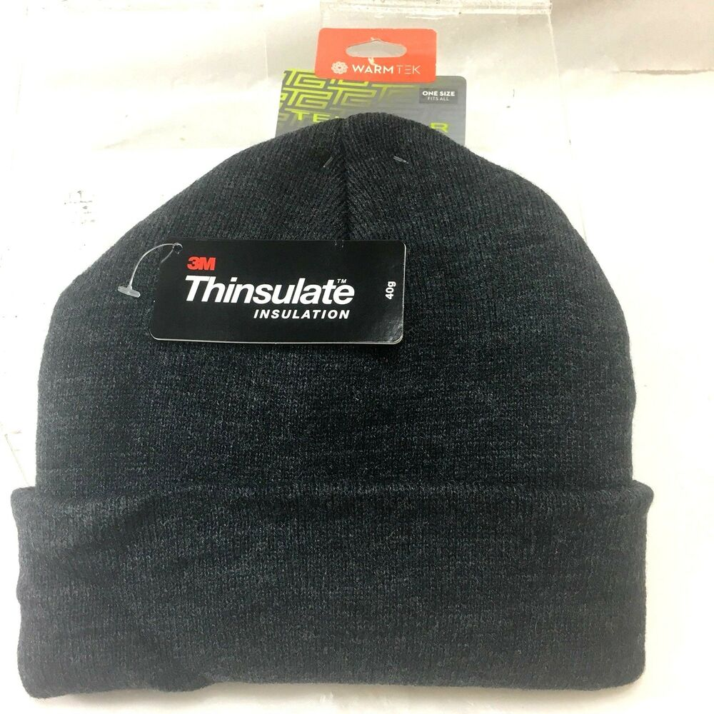 Details about Tek Gear 3M Thinsulate Gray Knit Watch Hat Beanie Stocking CAP  Insulated NWT 11