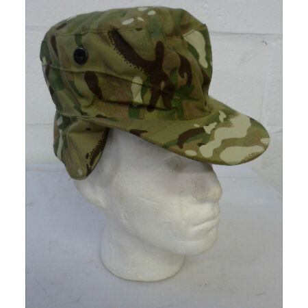 img-MTP CAMO COMBAT CAP SUN HAT - Multiple sizes available, British Army Issue