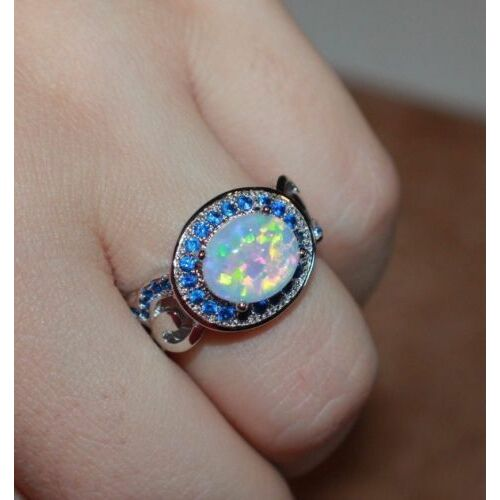 fire-opal-cz-ring-gemstone-silver-jewelry-8-classic-vtg-style-cocktail-band-j7