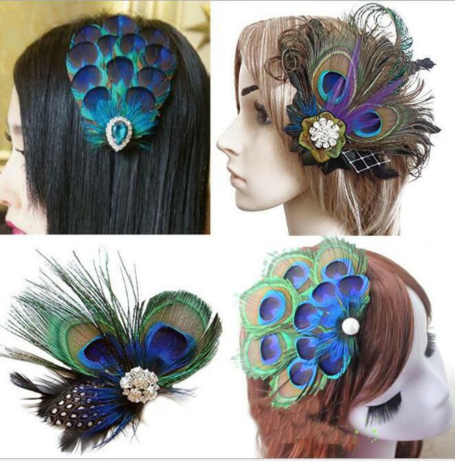 Peacock Wedding Gifts: Vintage Hair Accessories Wedding Gift Peacock Feather