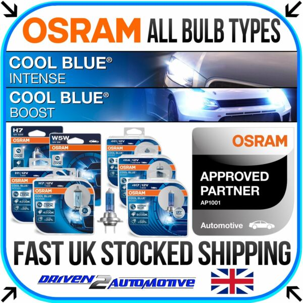 OSRAM COOL BLUE INTENSE & BOOST ALL BULBS HERE! H1 H3 H4 H7 H11 HB3 HB4 D1S D2S