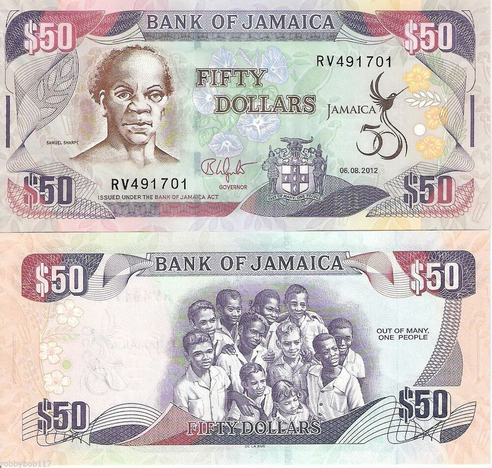 JAMAICA 50 Dollars Banknote World Paper Money Currency ...