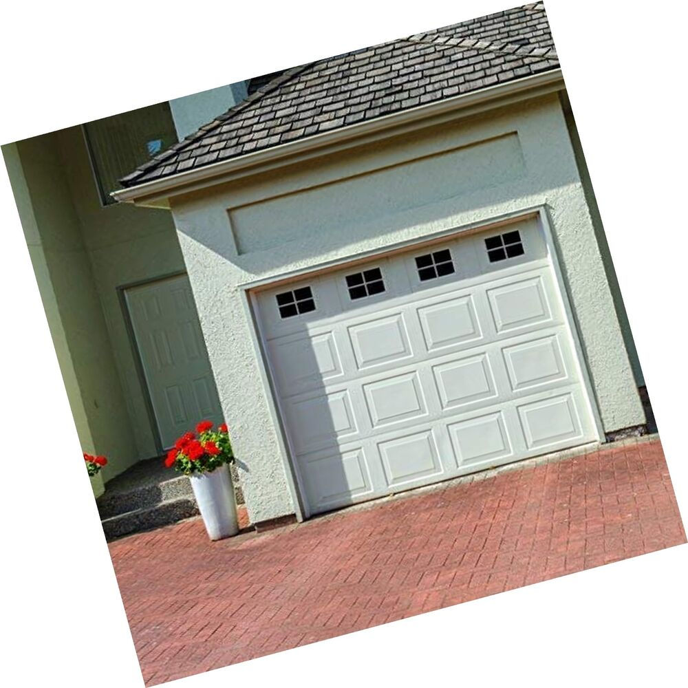 Decorative Magnetic Garage Door Window Panes Black 1 Car