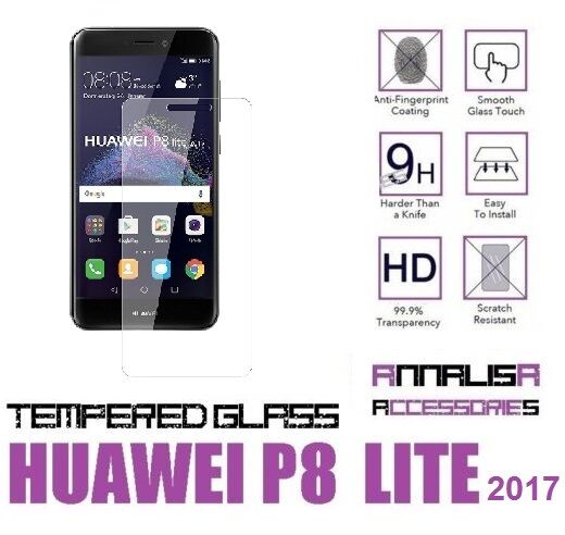 PELLICOLA IN VETRO TEMPERATO PER HUAWEI P8 LITE 2017 PRA-LX1 TEMPERED GLASS
