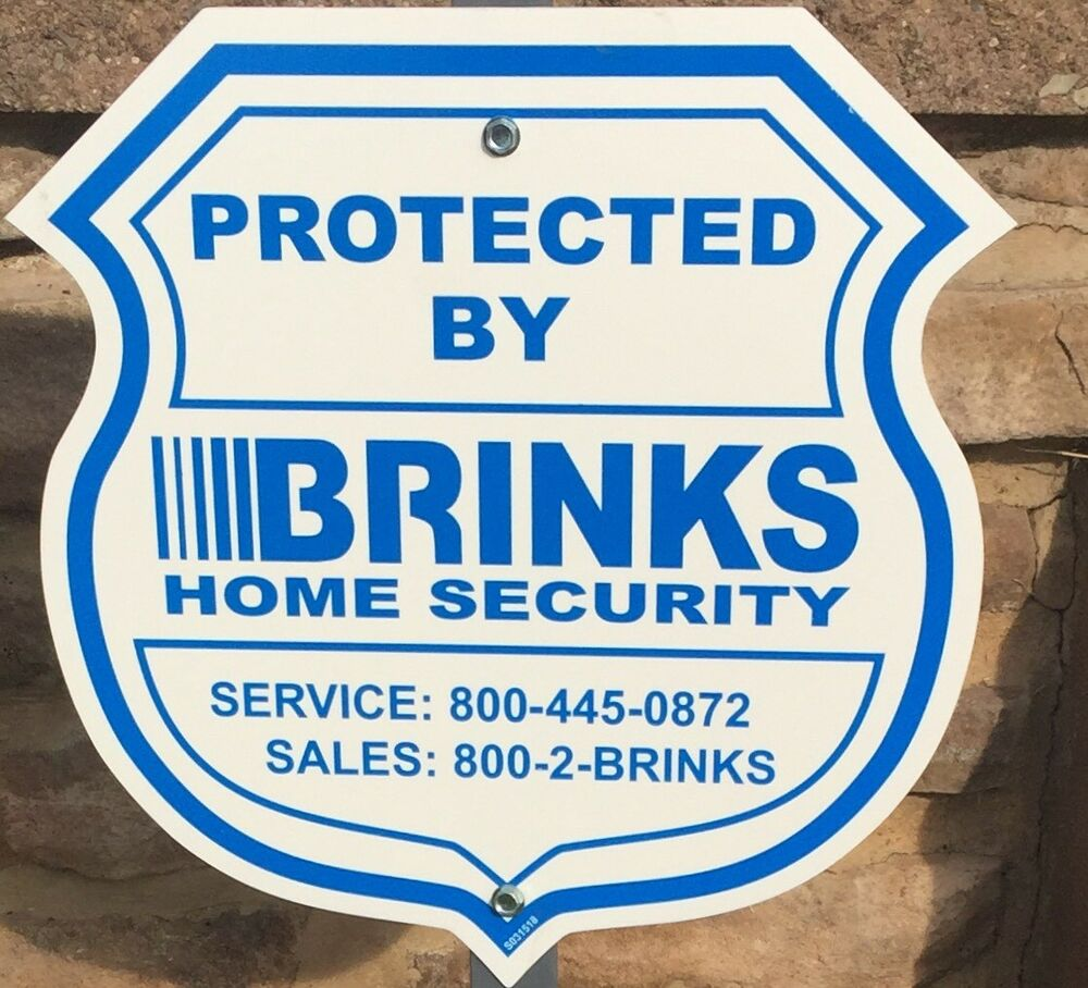 AUTHENTIC REFLECTIVE YARD SIGN & 4 WINDOW STICKERS BRINKS HOME SECURITY ADT  'L | eBay