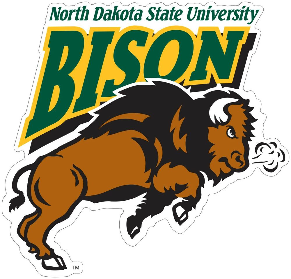 Ndsu North Dakota State Bison Color Die Cut Decal Sticker