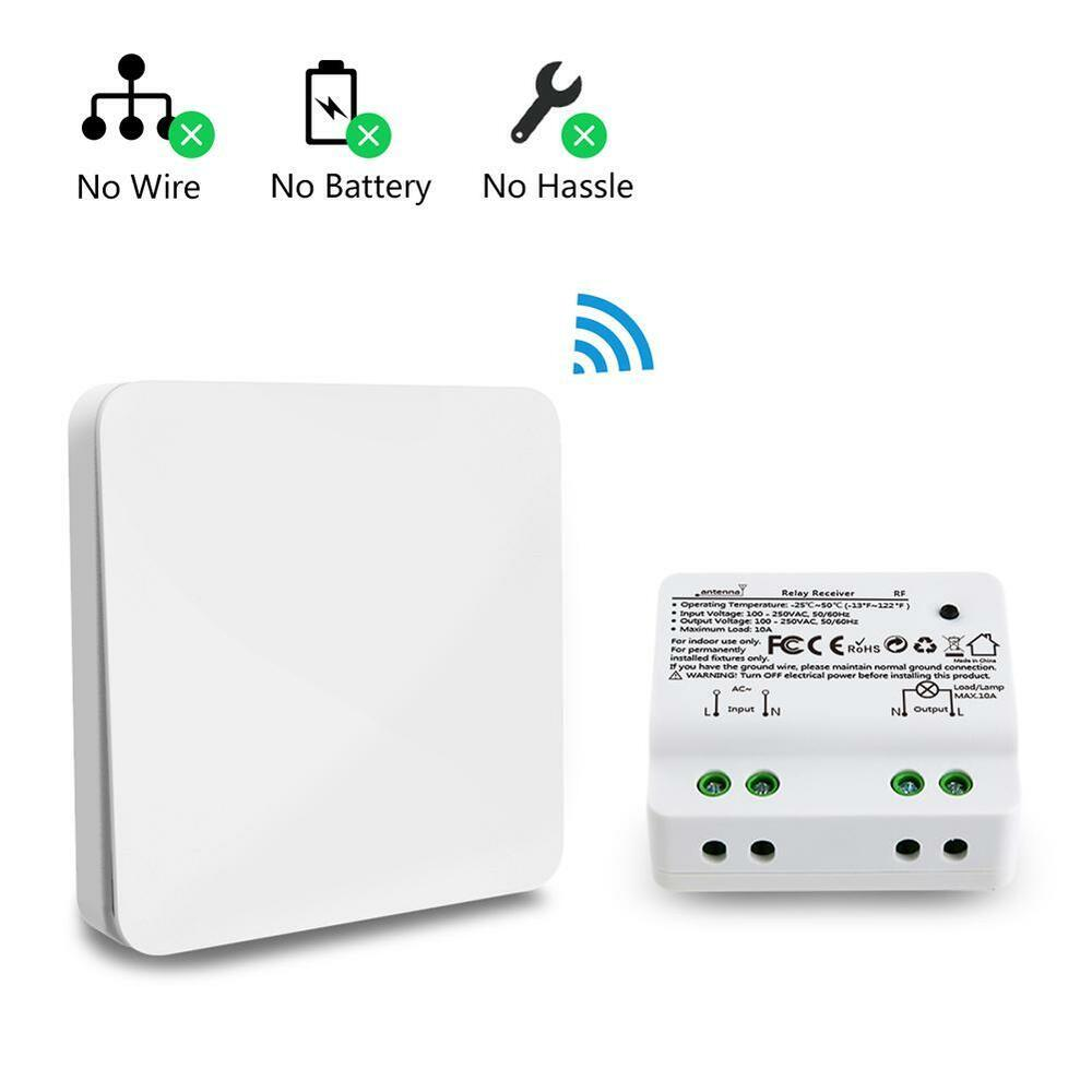 Wireless Remote Control Lamp Kinetic Self Powered Wall Light Smart Power Antenna Relay Wiring Diagram Also 4 Pin Toggle Switch Kit Ebay