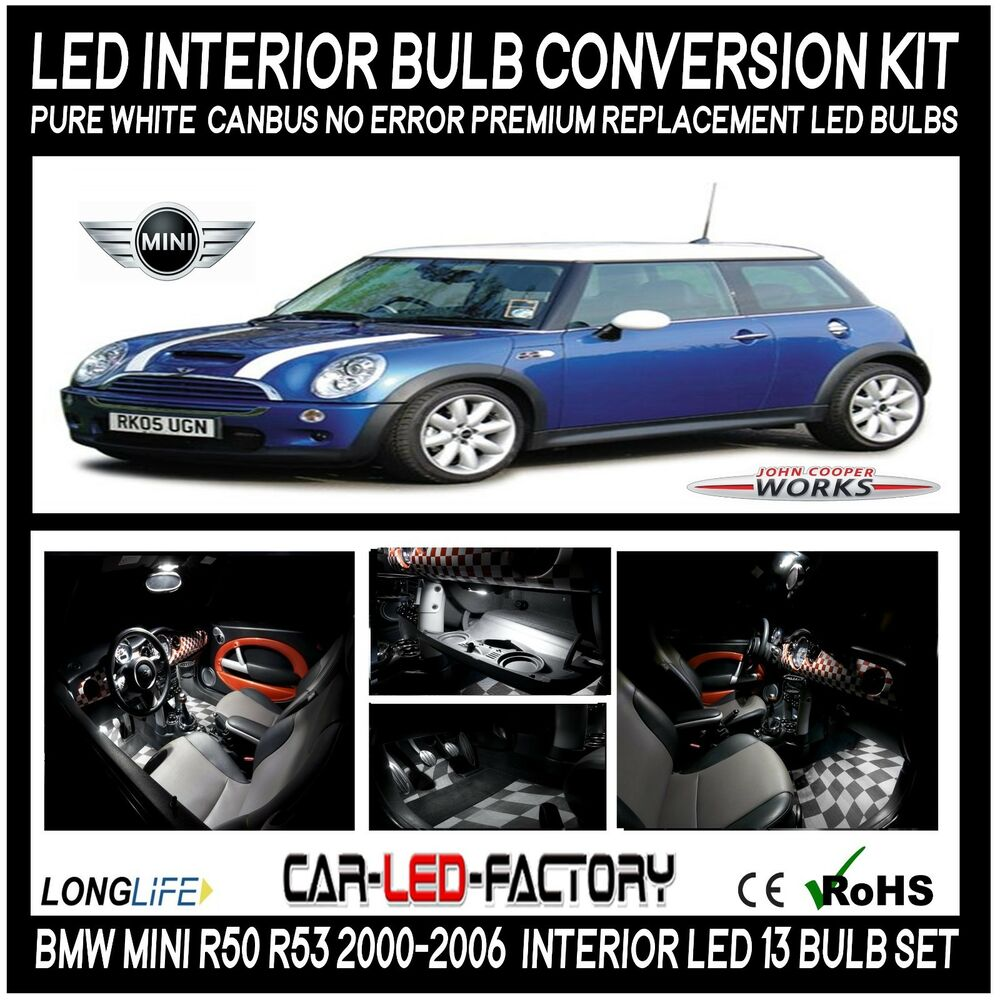 Premium Led Interior Lighting Kit Mini Cooper R50 R53 2000 2005