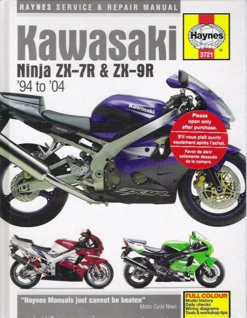 1994-2004 Ninja ZX7R ZX-7R ZX9R ZX-9R Haynes Service Repair Manual on 2001 parts diagram, 2001 fuse diagram, 2001 transmission diagram, 2001 fuel system diagram, 2001 steering diagram,