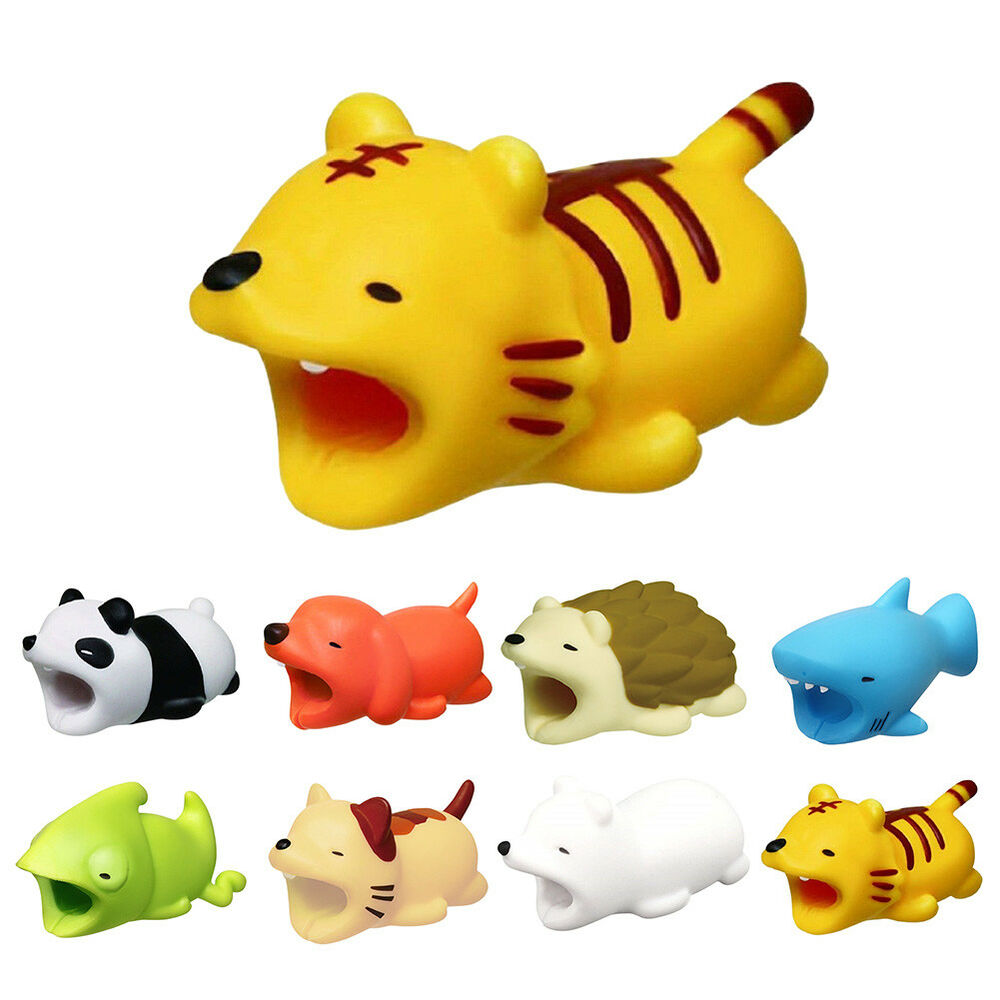 5 8pcs Animal Bites Cable Protector Accessory For Iphone