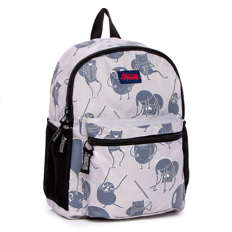 443201f65f Details about Adventure Backpack Jake   Finn Kids School Bag Gray Time 16
