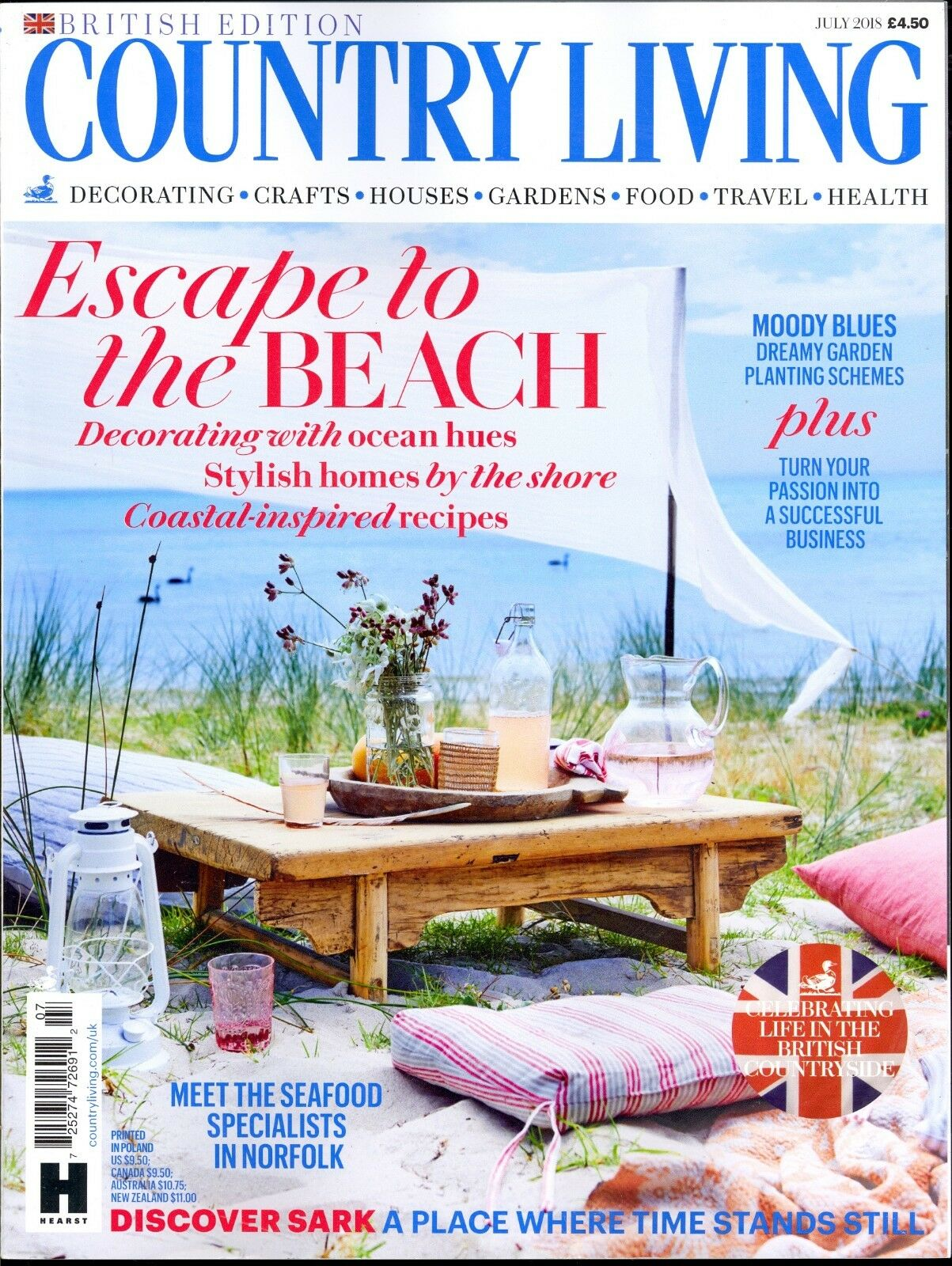 ... UPC 725274726912 Product Image For Country Living June 2018 British  Edition Decorating Crafts Gardens Health Food ...