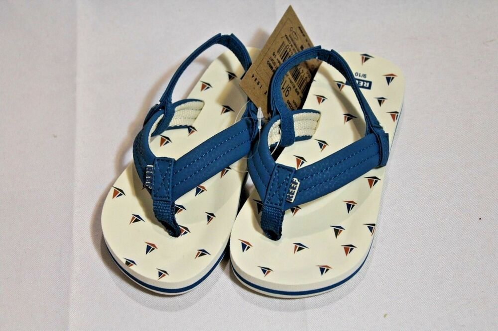 746937774 Details about NWT Toddler boys Reef Ahi thong sandals with back strap blue  boat