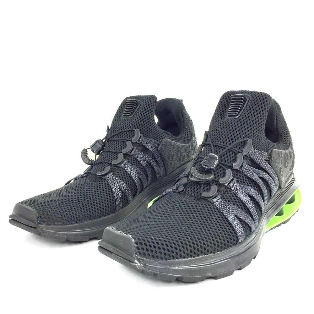 024eac11c37454 Details about Nike Shox Gravity Luxe Running Shoes Blk Blk Blk Green Strike  AR1470 003 Mens Sz