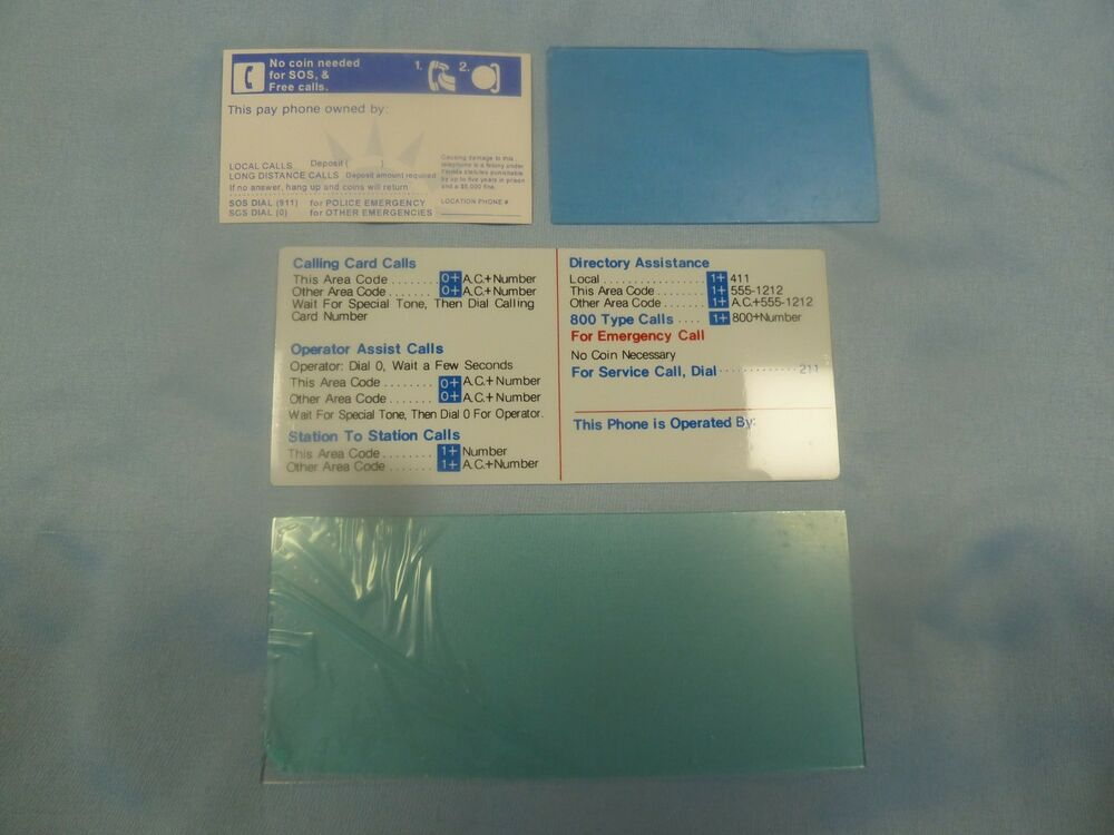 new gte information cards and windows payphone display pay phone protel elcotel ebay - Payphone Calling Cards