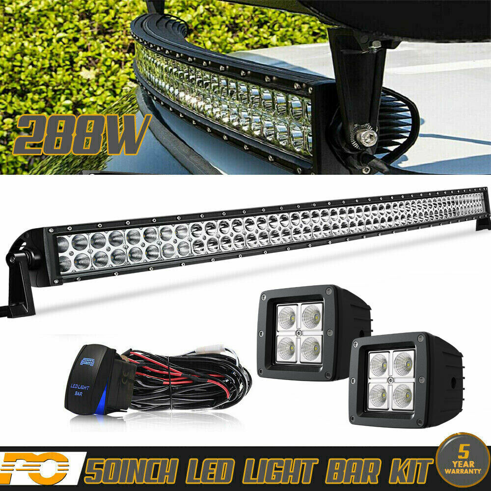 Kawasaki Teryx Wiring Harness Library Curved 50 Light Bar 2x 4 Led Pods Mule 3010