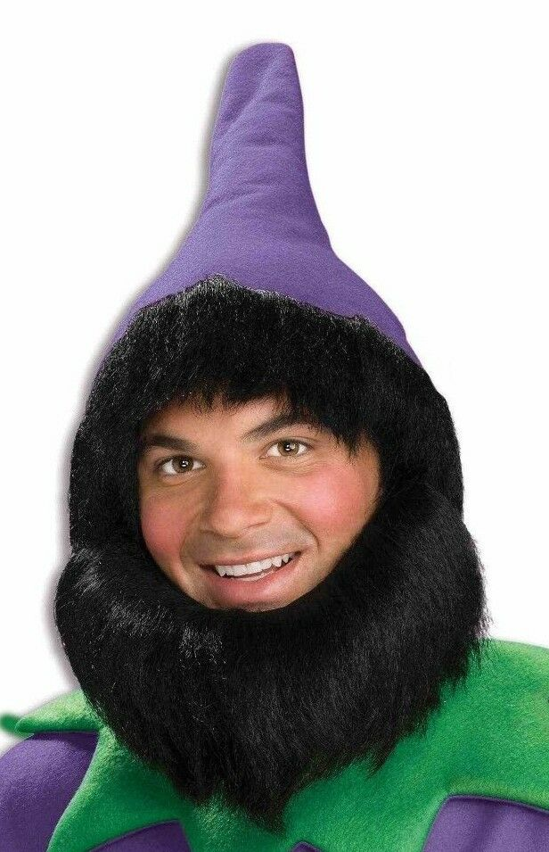 afe6462c2df Details about ELF HAT AND BEARD PURPLE Dwarfs Gnome Plays Halloween Costume  Accessory b23