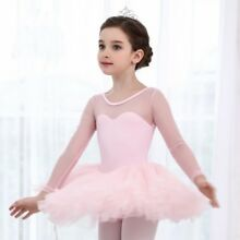 Kids Girl Gymnastics Ballet Tutu Dress Leotard Dance Costume Performance Party