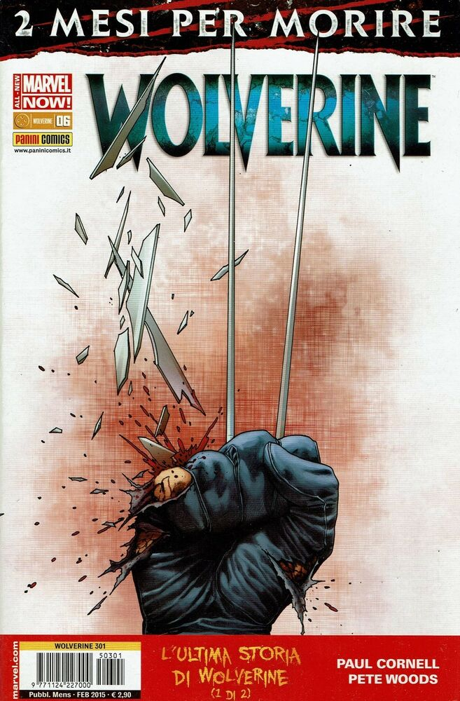Wolverine n.301 all new marvel now 6 ed.panini ebay