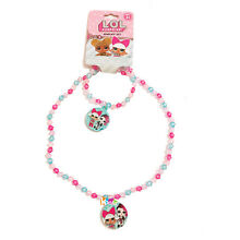 LOL Surprise Girl Fashion Accessories Beaded Necklace Bracelet Charm Jewelry Set