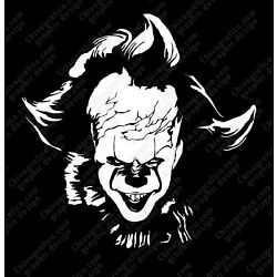 Pennywise It White Vinyl Decal Sticker Wall Decor car window