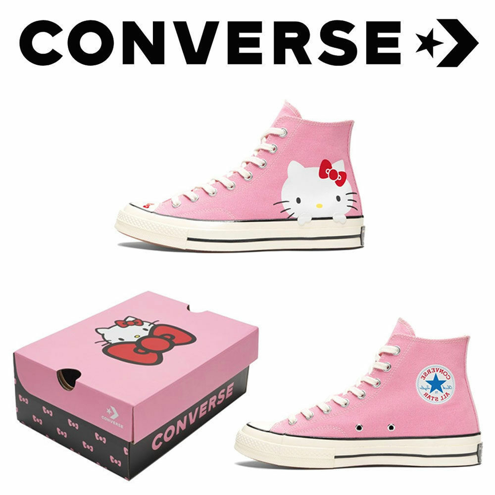 ec21d6e33b37a7 Details about CONVERSE Hello Kitty Chuck Taylor All Star Hi Friends 70  Sneaker Pink LIMITED