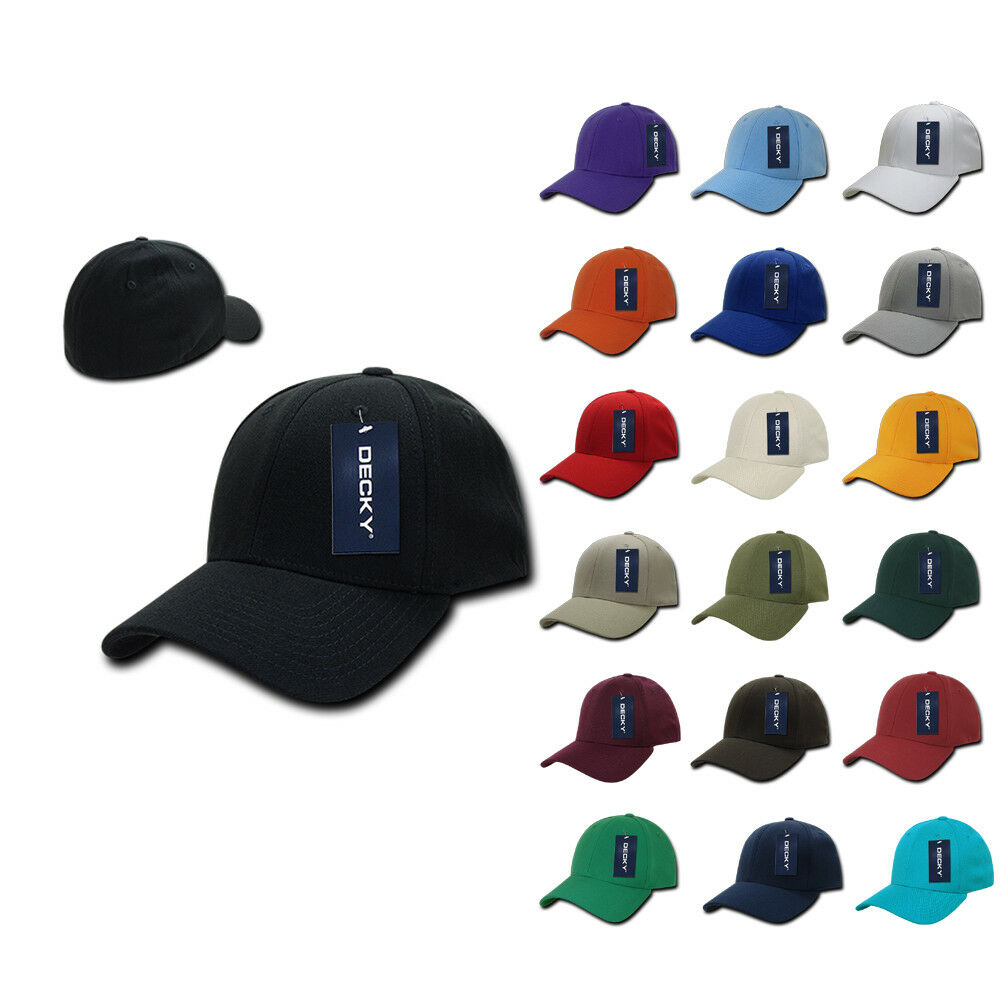 47ce5f7d090 1 Dozen Decky FitAll Flex Fitted Baseball Dad Caps Hats 2 Sizes Wholesale  Lot