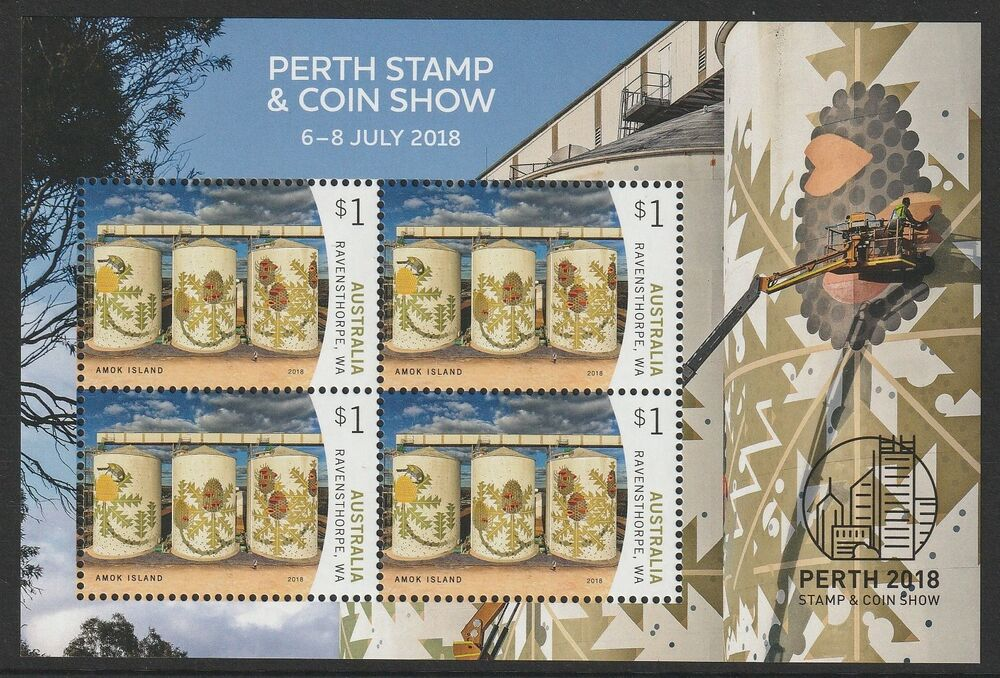 6 July 2018 Released Movie: Australia 2018 : Perth Stamp Show Minisheet 6