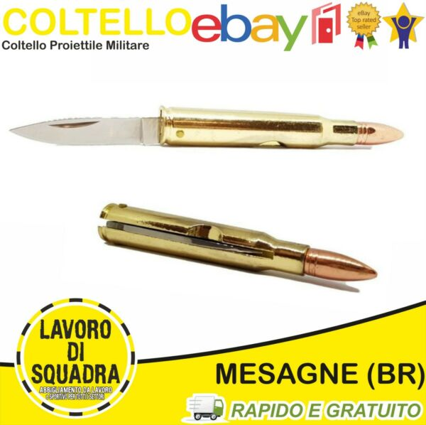 Coltello Militare Proiettile Tascabile Professionale Softair Outdoor COLLEZIONE