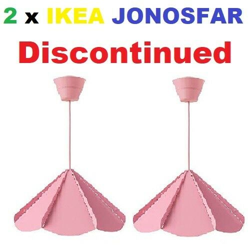 Details About 2 X Nip Ikea Jonosfar Pink Hanging Modern Umbrella Pendant Lamp 902 269 38 Limit