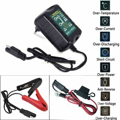 New 12V/6V 1.5 Amp Battery Charger For Harley Davidson Motorcycles Maintainer US