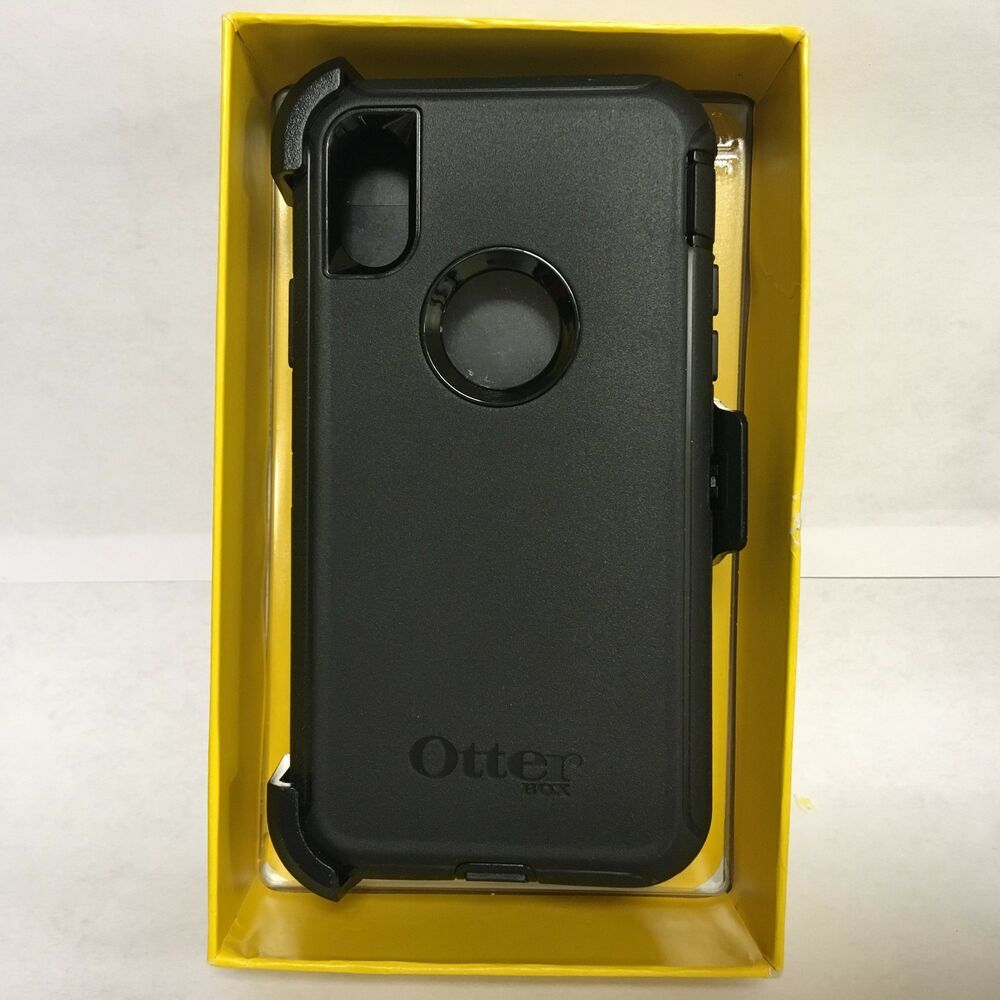 655e338e6a Details about OtterBox Defender Series Rugged ProtectIon Case iPhone X -  Black [77-57034]