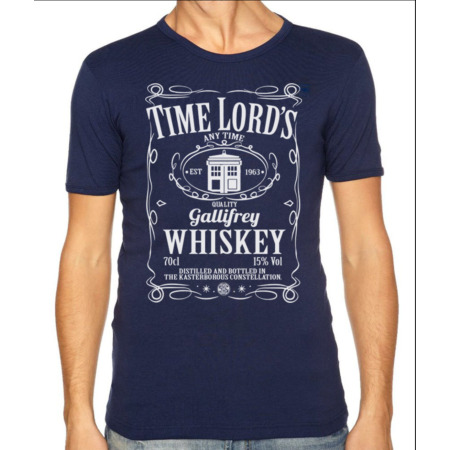 img-DR Who T-Shirt Gallifrey Mash Up Tee Men's & Ladies | TIME LORDS WHISKEY NAVY