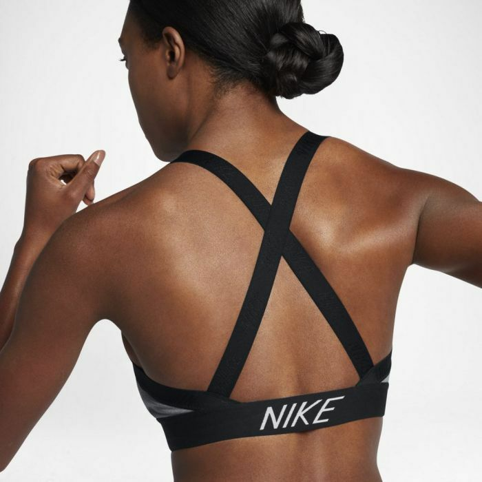 fe5365bf5fab6 Details about Nike Women s Pro Indy Logo Back Sports Bra - Light Support  Training Gym