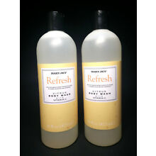 LOT 2 TRADER JOE'S REFRESH CITRUS BODY WASH WITH VITAMIN C