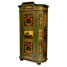 FIGURAL & FLORAL PAINTED EASTERN EUROPE CABINET, 19th century ( 1800s )