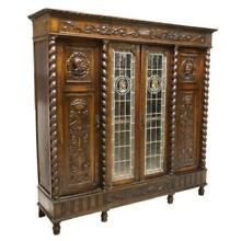 ORNATE SPANISH RENAISSANCE REVIVAL CARVED BOOKCASE, 19th century ( 1800s )