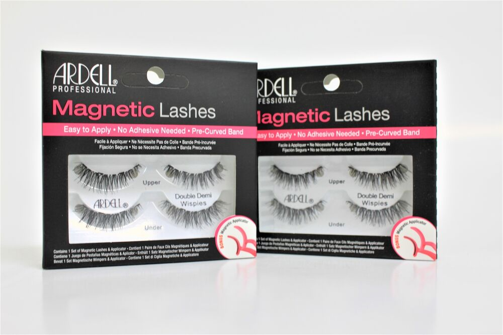 6deddeecc53 Ardell Magnetic Strip Lashes - Double Demi Wispies Eyelashes With  Applicator x 2 | eBay