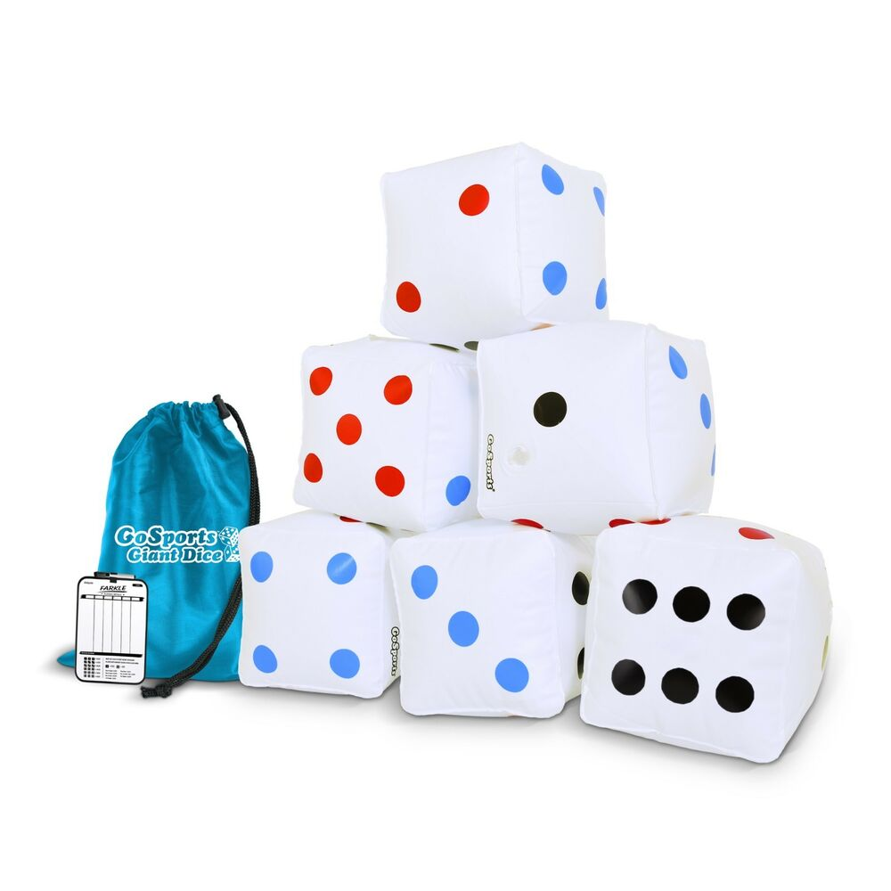Details About Gosports Giant Inflatable Dice Set Of 6 Pack Tote Bag Size For Kids