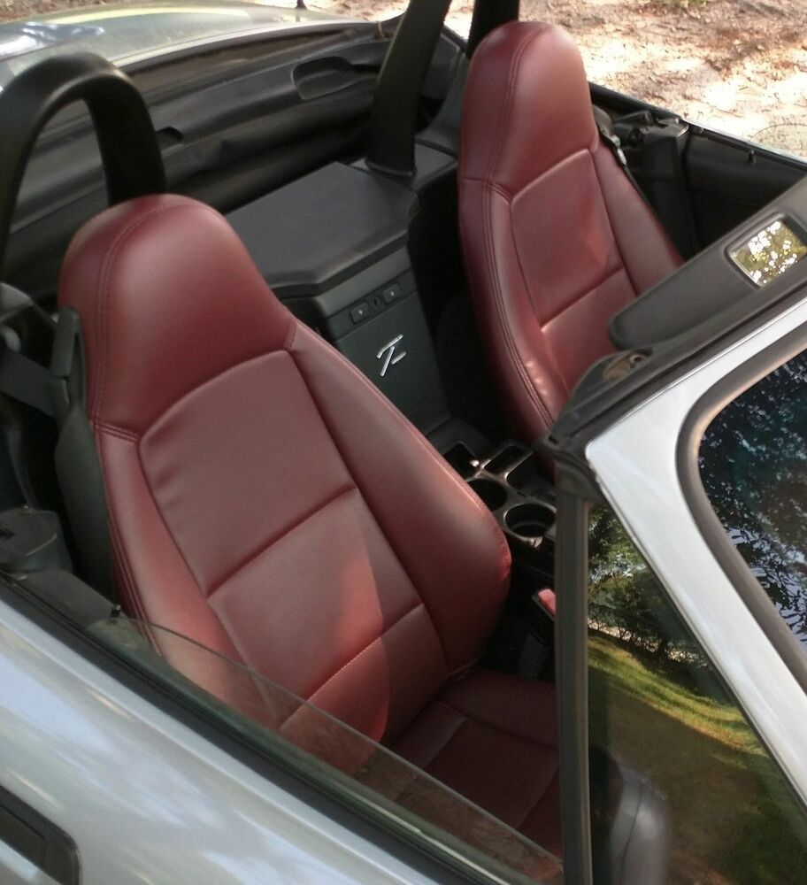 Bmw Z3 Car Cover: 1996-2002 BMW Z3 Replacement Leather Seat Covers Maroon