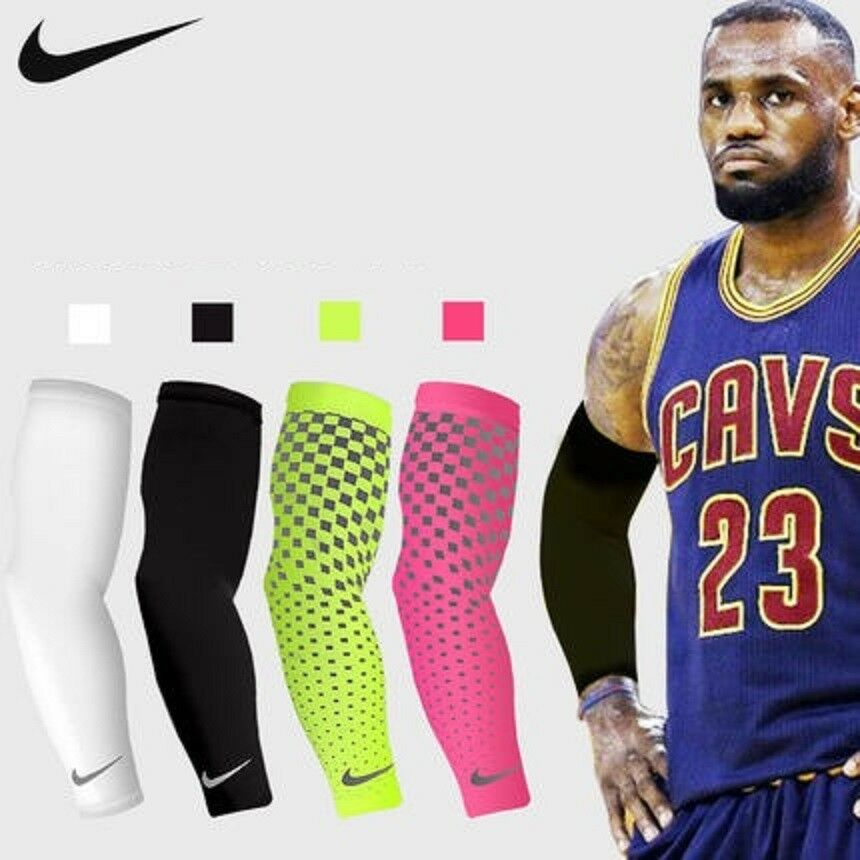 f1f7041e9fa20 Nike Dri-Fit 360 Arm Sleeves Running Training Sweat Away UPF 40+ | eBay