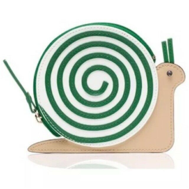 95c3b8ff6a23 Details about NWT KATE SPADE Turn Over A New Leaf LEATHER Snail Coin Change  Case Purse Holder