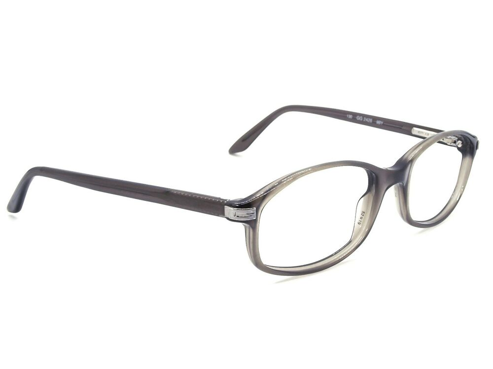3afb457880b Details about Gucci Eyeglasses GG 2426 9BY Transparent Gray Oval Frame  Italy 52  19 130
