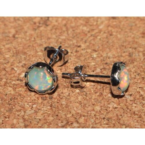 fire-opal-stud-earrings-gems-silver-jewelry-petite-circle-round-oval-cocktail