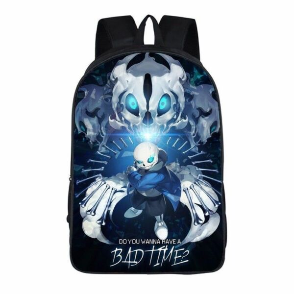 New Game Undertale Sans Papyrus Schoolbag Nylon Laptop Shoulders Backpack Bag